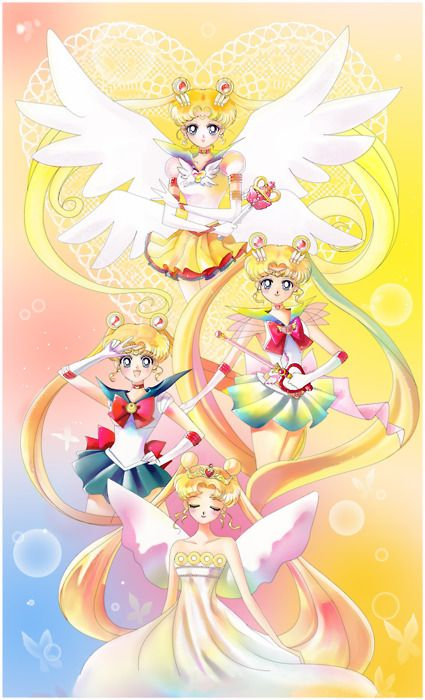 sailor moon....this was my favorite show for like 6 years....and i still love it....que the sailor moon theme song!