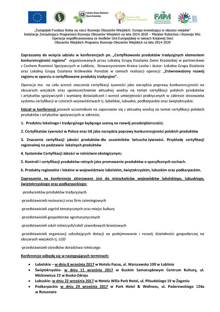 Opis projektu konferencje Strona 1