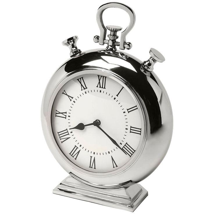 Butler Hors D'Oeuvres Alistair Nickel Finish Desk Clock