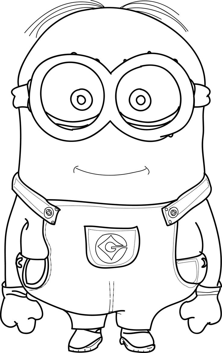 Minions Coloring Pages Craft Coloring books and Kids colouring
