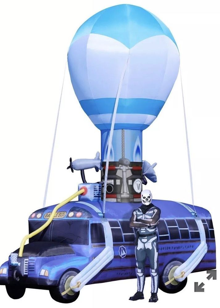 17 5 Fortnite Battle Bus Inflatable Outdoor Yard Lawn Decoration