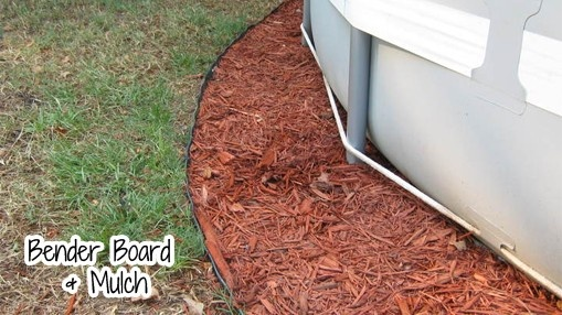 Bender Board Amp Mulch Around The Pool Landscape