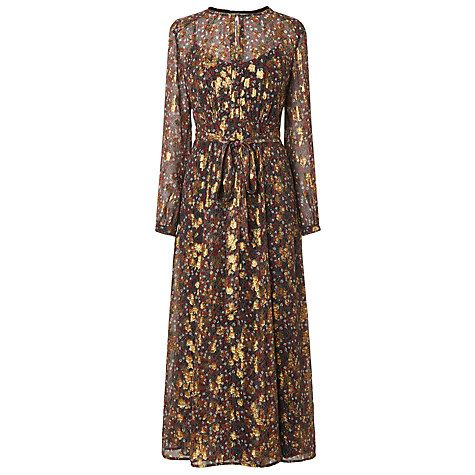 Buy L.K. Bennett Elowen Floaty Dress, Roca Red Online at johnlewis.com