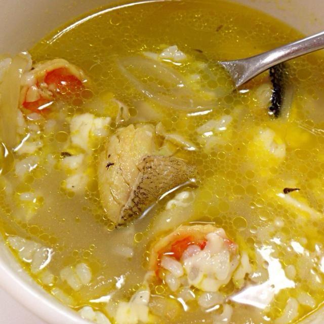 一昨日のスープでお手軽朝ごはん。スープはまだ残ってる… - 3件のもぐもぐ - ブイヤベース雑炊 by yutae
