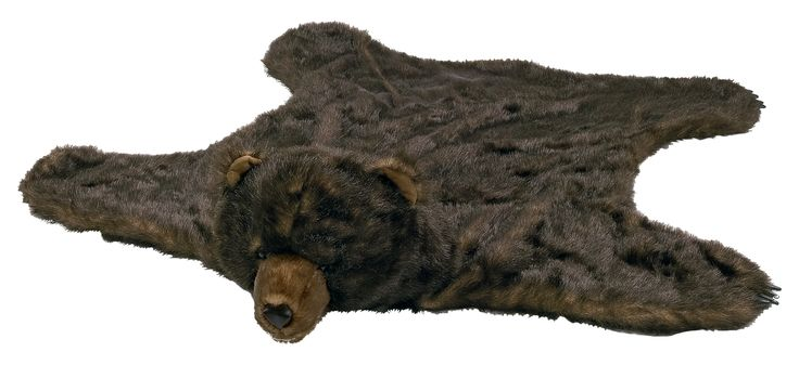Faux Grizzly Bear Skin Rug