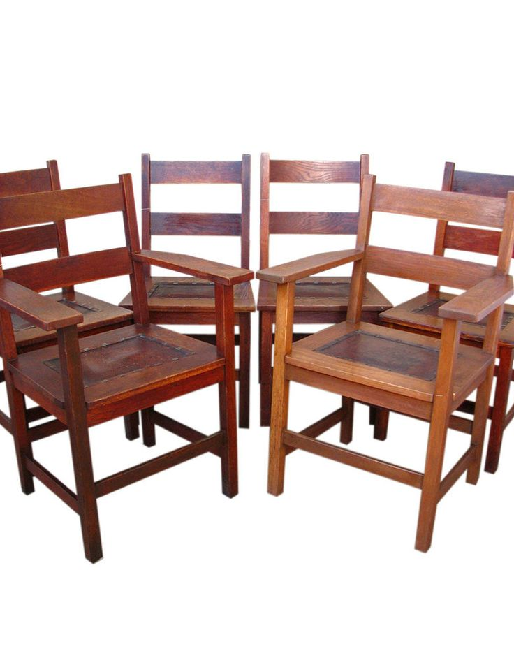 Two Captains Chairs Too Boot! I Would Be Hard Pressed At This Price Thought  I Believe It Too Be A Middle Of The Road Pricing. GOOD Set Of 6 Antique  GUSTAV ...