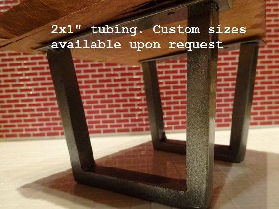 "25-29"" Steel tube table legs, custom table legs, steel vintage table legs, industrial table legs, colors, tapered legs, metal pedestal legs"