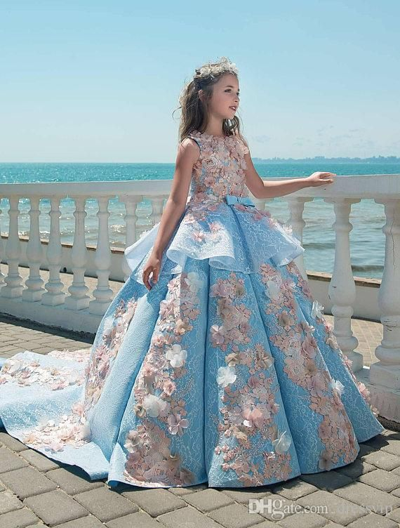 ce2351807280 2017 Champange and Ivory Lace Mermaid Flower Girl Dresses for ...