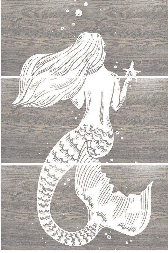 Wooden Mermaid Wall Decor best 25+ mermaid nursery decor ideas on pinterest | mermaid room