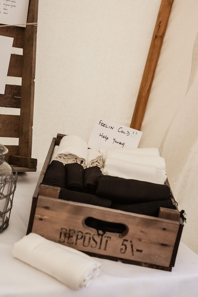 Feeling Chilly.......please help yourself to the Pashmina box! www.thetraditionaltentcompany.co.uk