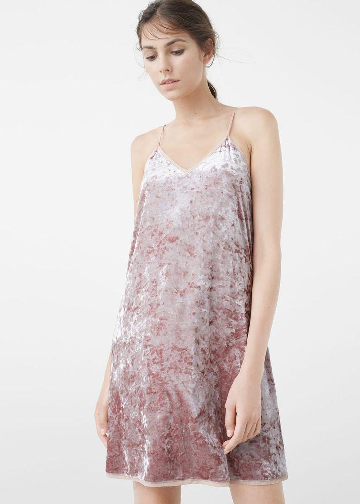 MANGO crushed velvet dress