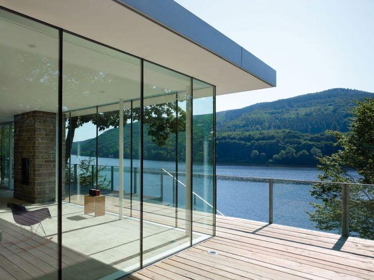 Yep.: German Houses, Lakes Houses, Lakes Home, Glasses Wall, Interiors Design, Lakes Superior, Lhvh Architekten, Glasses Doors, Houses Design