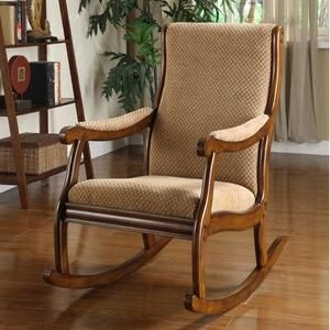 Liverpool Solid Wood Rocking Chair in Antique Oak