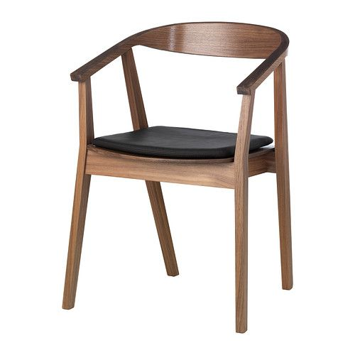 STOCKHOLM Chair with chair pad IKEA The softly curved back, armrests and walnut veneer together give the chair a warm and welcoming look.