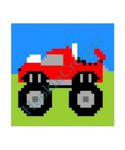 HookinCrochet Monster Truck Bobble Stitch Graph Pattern