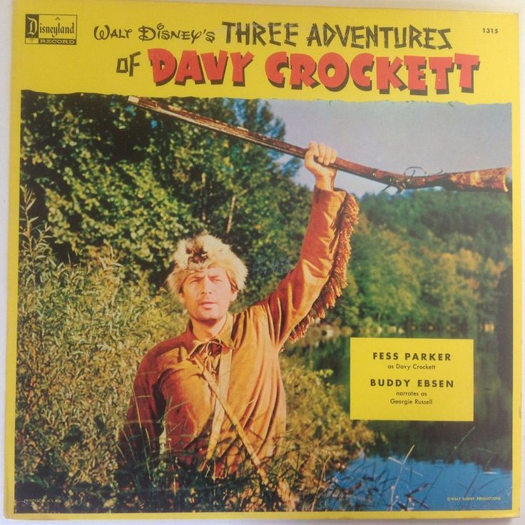 Walt Disney's Three Adventures of Davy Crockett (Fess Parker and Buddy Ebsen) LP | Music, Records | eBay!