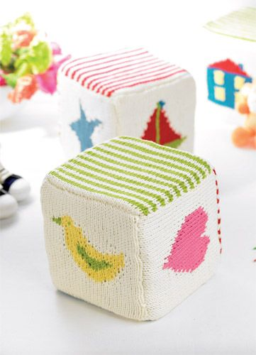 Child's Play - these cubes are sooooo cute! They are also a great learning too for intarsia :)