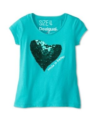 69% OFF Desigual Kid's Short Sleeve Tee (Green)