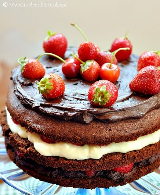 Strawberry cherry cake recipe