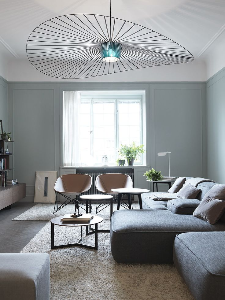 Home In Green Grey COCO LAPINE DESIGN Spacious Living RoomLiving SpacesLiving
