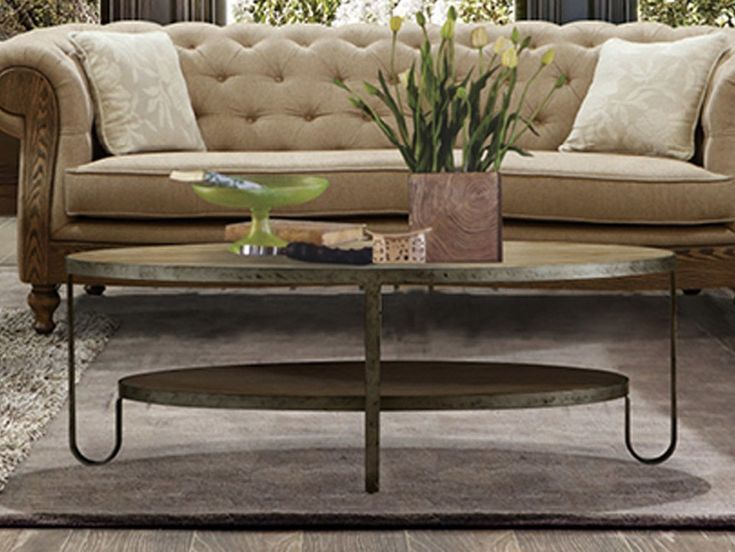 Industrial Oval Coffee Table