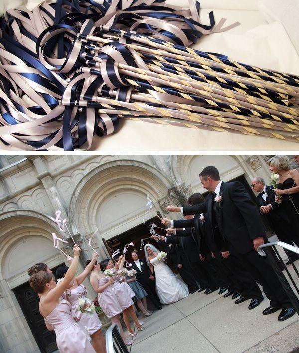 ribbon wands for weddings, cheap wedding favors, DIY ribbon wands, unique wedding ceremony exit, DIY wedding wands, wedding photo op  #weddingfavors #wedding #diywedding  www.etsy.com/shop/pebblescatto $63