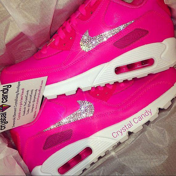 Barbie Pink Nike Air Max 90's Swarovski by CrystalCandyOfficial