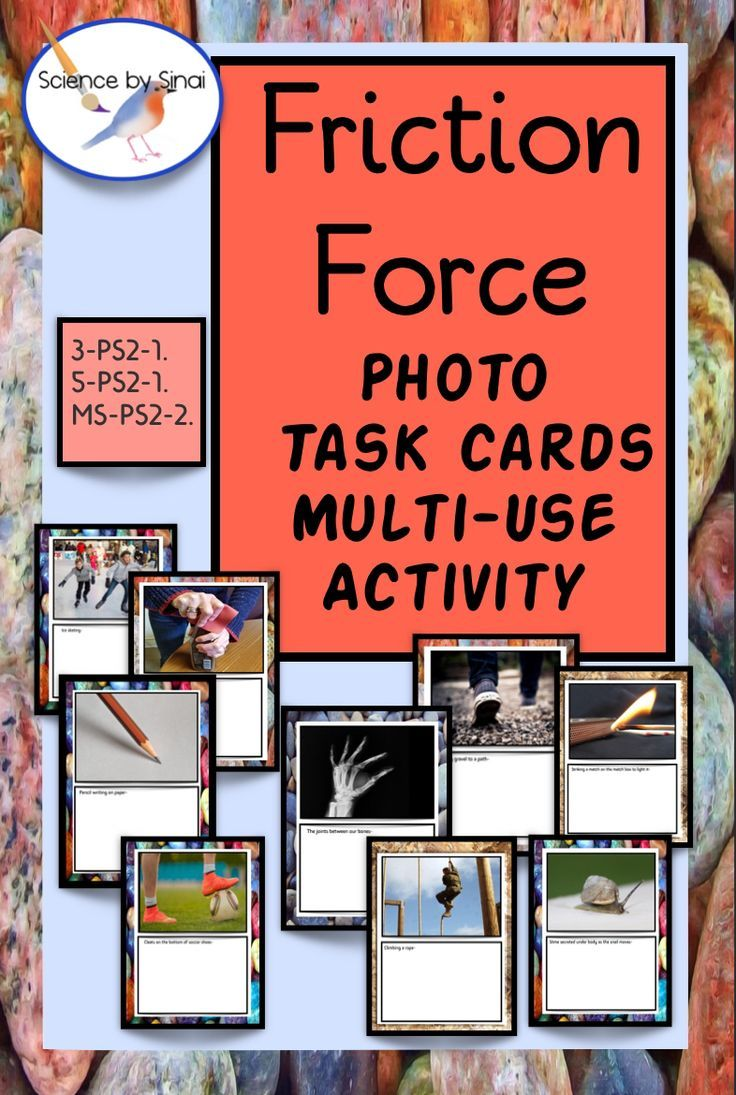 FRICTION FORCE Multi Grade PHOTO SORT TASK CARDS Distance Learning    Science lessons elementary [ 1095 x 736 Pixel ]