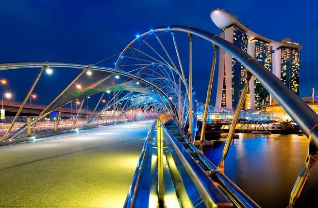 103 best images about bridges of the world on pinterest for Design bridge singapore