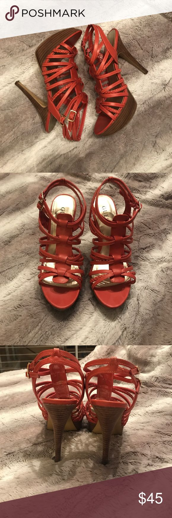Guess Shoes. Dark Coral Leather Pumps. Size 8. Guess Shoes Dark Coral Pumps. Size 8. Worn twice. Great condition, great shoes. Given as a gift. Guess Shoes Heels