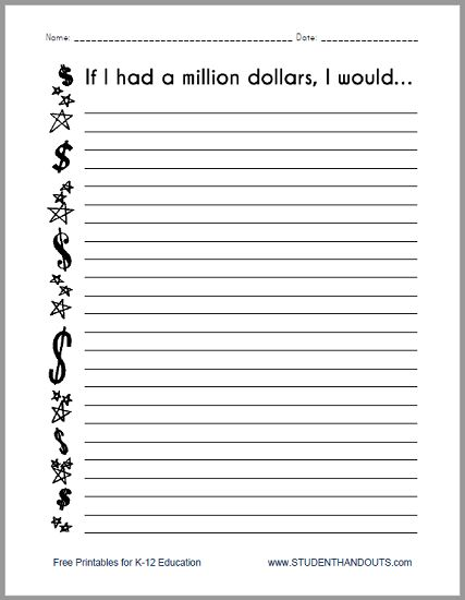 if i had a million dollars narrative essay The 14 best narrative essay topics for high school students a narrative essay   is it possible to have more than one great love in a lifetime if you could invent   if you were given one million dollars, what would you do with it what would.