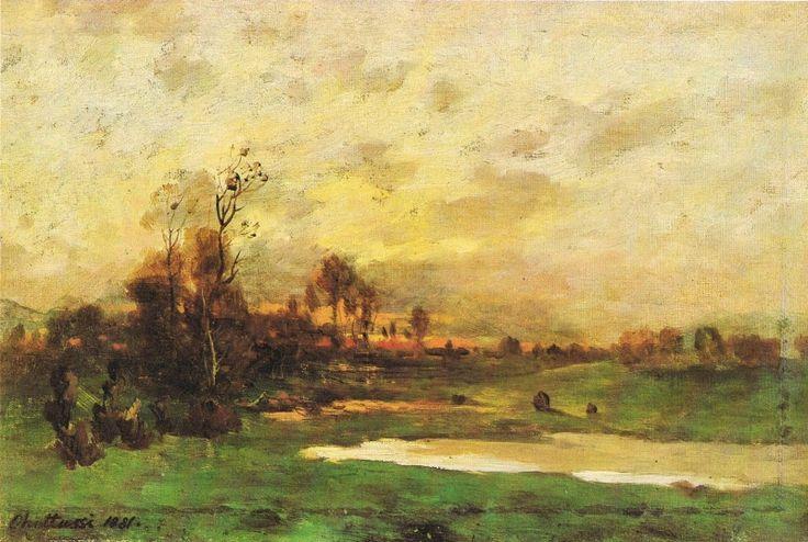 Krajina při západu slunce, Antonín Chittussi