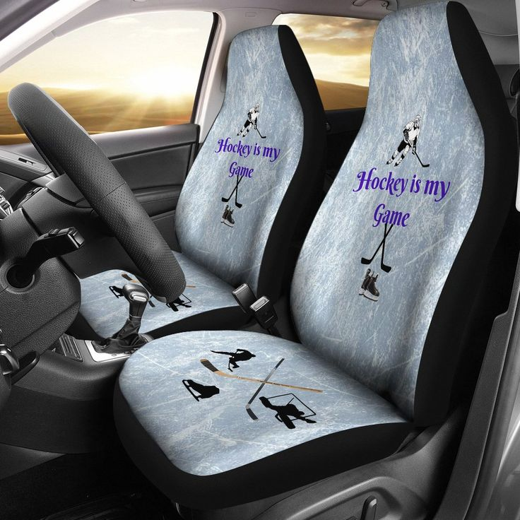 Hockey Is My Game Protective Car Seat Cover Set