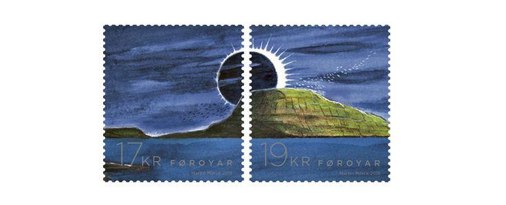COLLECTORZPEDIA: Faroe Islands Stamps Total Solar Eclipse 2015