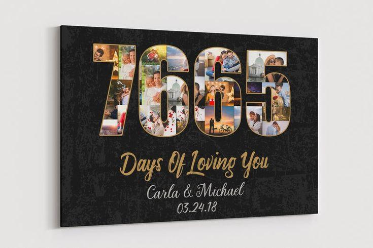 21 year anniversary gift canvas 21st wedding anniversary