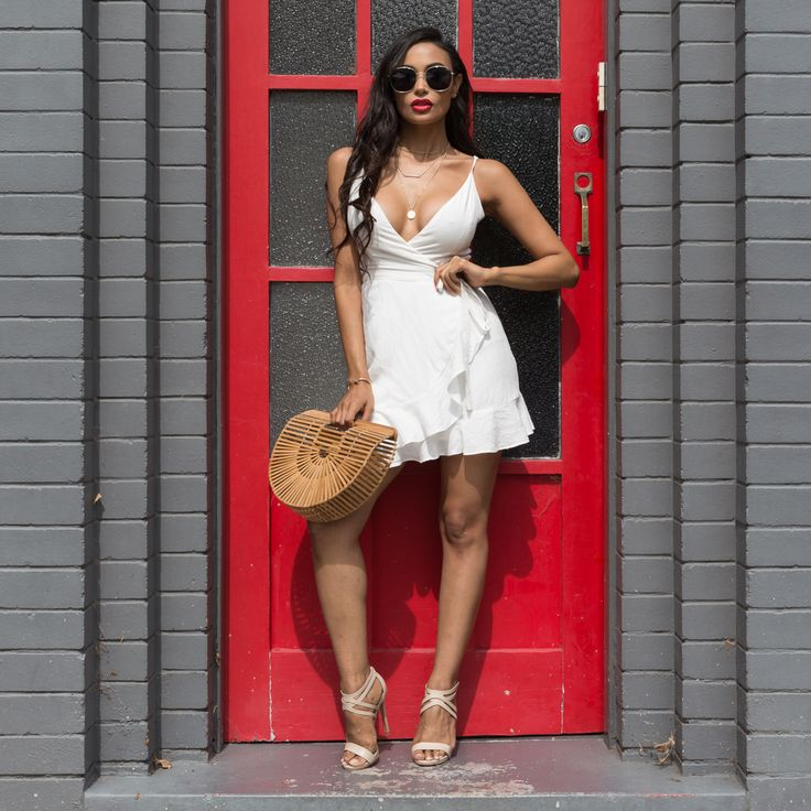 The ultimate date night dress, shop Waterlily mini dress white >>> https://www.urbansport.com.au/home/758-waterlily-white-mini-dress.html   #urbansport #white #dress #whitedress #minidress #wrapdress #ruffle #dresses #datenight #datenightoutfit