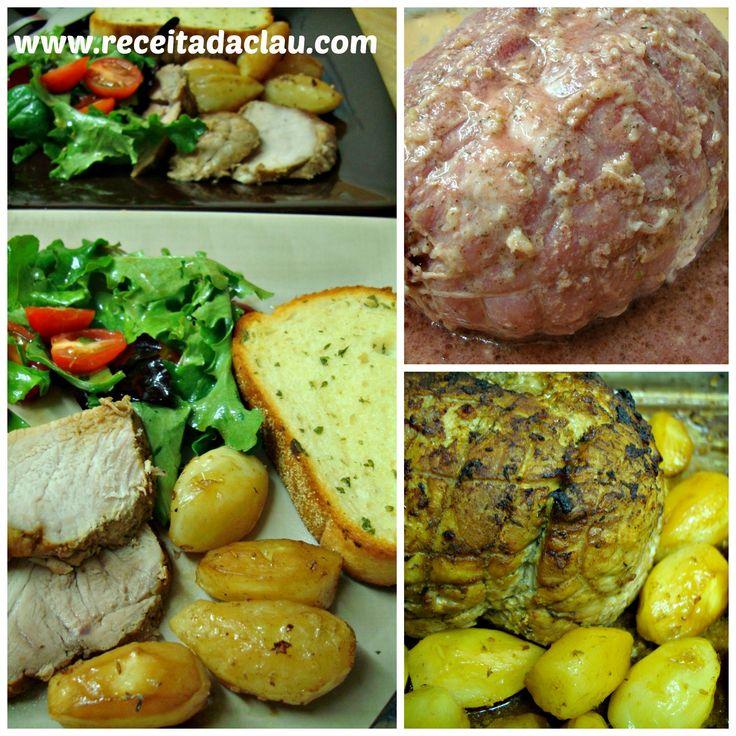 Lombo de Porco Assado com Batatas | Carnes > Lombo | Receitas Gshow