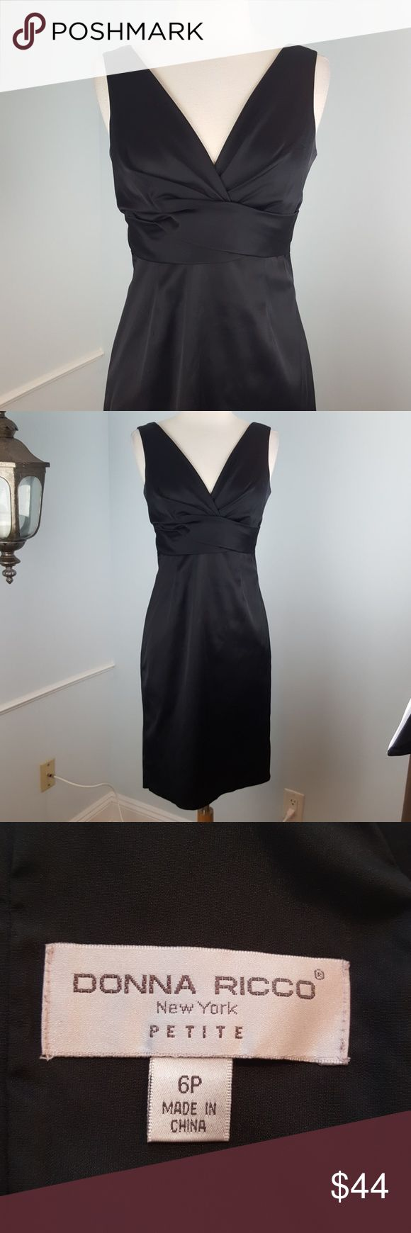 Donna Ricco sheath dress 🖤Excellent condition, measures 37.5 inches from top to bottom Donna Ricco Dresses