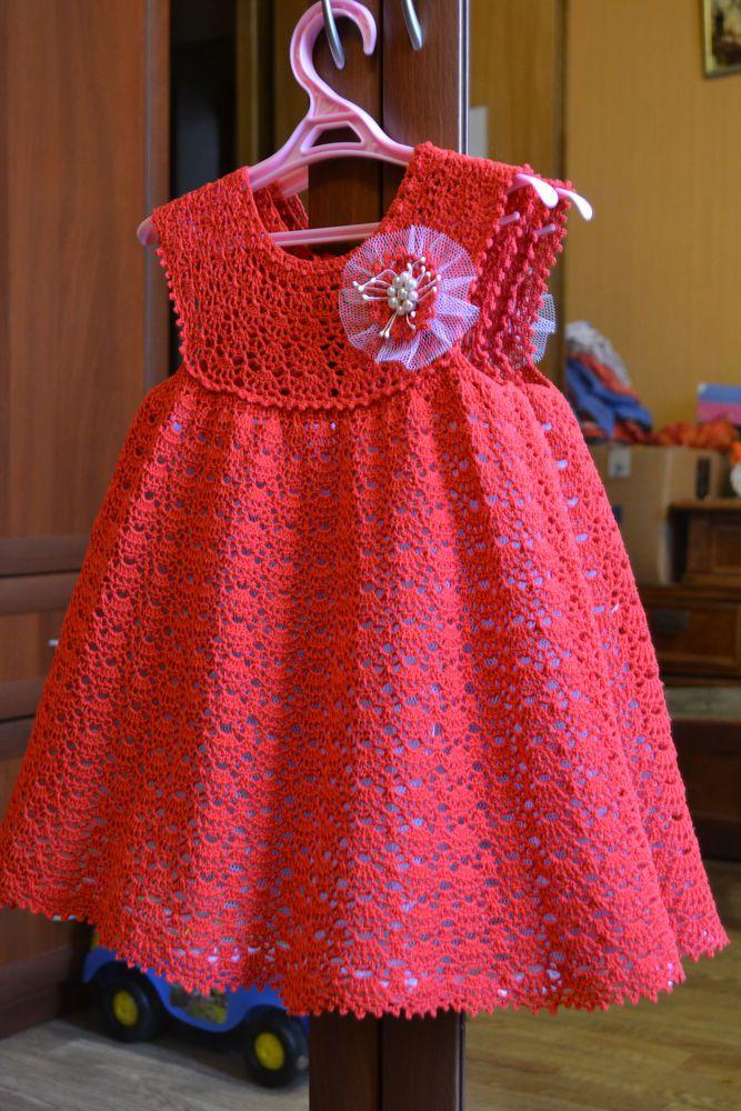 """Мастер-класс недели - платье для девочки крючком """"Кружевное облачко"""" - Ярмарка Мастеров - ручная работа, handmade"""