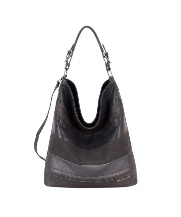 d152659f8ca5 DAVIDJONES Women s Faux Leather Large Hobo Top-Handle Tote Shoulder Purse -  D.grey - CC187CLKD2G  hobo  bags  handbags  style  gift