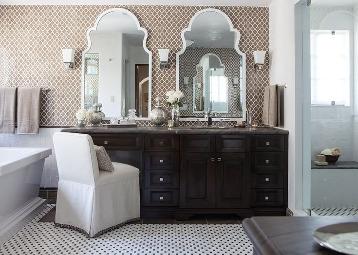 Inspiration For A Mediterranean Bathroom Remodel In Other With A Freestanding Tub