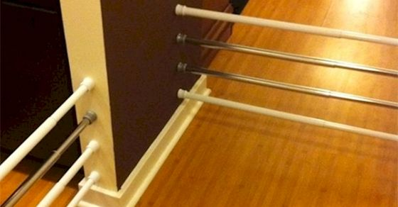 What They Did With These Shower Curtain Rods Might just Be The Most Secretly Genius Idea Ever.