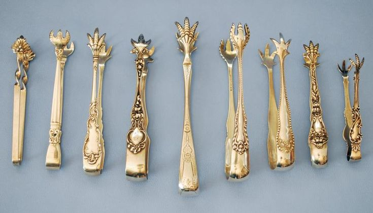 Silver Quill Antiques and Gifts - Antique Silver Sugar Spoons and Tongs