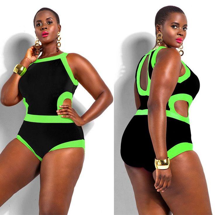 Womens Trendy Plus Size Stylish Swimsuit