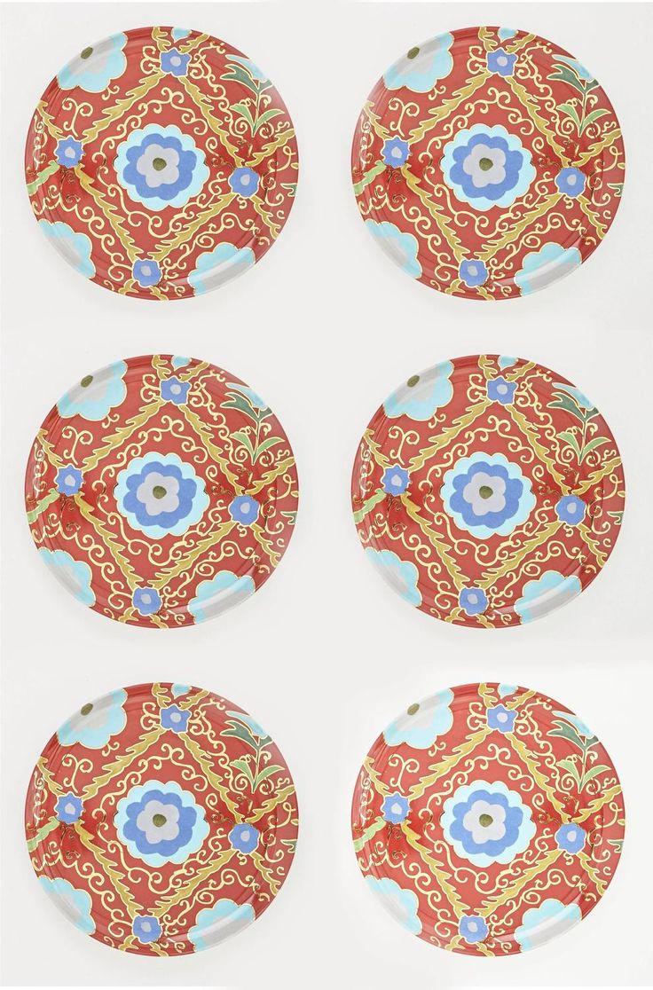 best  modern dinner plates ideas only on pinterest  modern  - set for six porcelain suzani motif dinner and dessert plates by arjumand'sworld