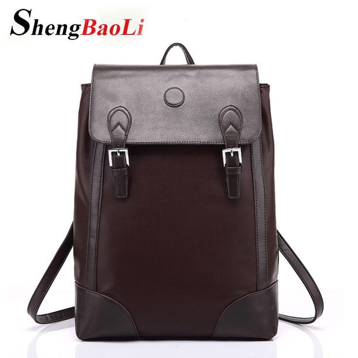 2017 Hot! Women fashion PU Black backpack male travel mochilas school mens leather business bag large laptop shopping travel bag