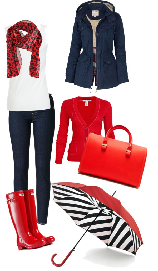 """Outfit para la lluvia"" by solstyle ❤ liked on Polyvore"