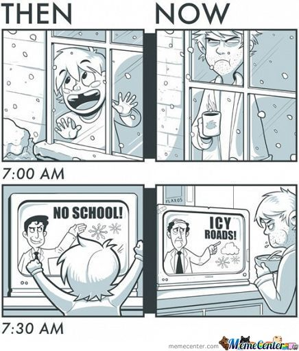 -- Oh so true. I have a love/hate relationship with snow.