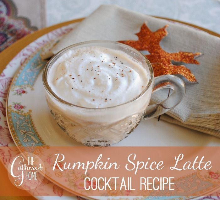 """The """"Rumpkin Spice Latte"""" - a chilled, alcoholic version of the famous Pumpkin Spice Latte! It's delicious! #recipe #PSL"""