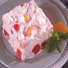 Frozen Fruit Salad- pretty much my favorite food my mom makes. The only difference from this recipe is that she uses a jar of marshmallow fluff instead of mini marshmallows which makes it way creamier! She also uses 2 jars of cherries sometimes because we always fight over the cherry pieces. :)